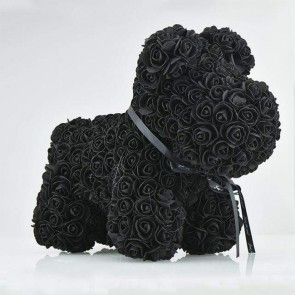 Black Rose Puppy Dog Flower Puppy Dog Best Gift for Mother's Day, Valentine's Day, Anniversary, Weddings and Birthday