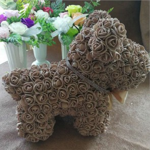 Brown Rose Puppy Dog Flower Puppy Dog Best Gift for Mother's Day, Valentine's Day, Anniversary, Weddings and Birthday