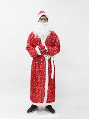 Christmas Santa Claus Costume Cosplay Santa Claus Clothes Fancy Dress In Christmas Men 5pcs/lot Costume Suit For Adults