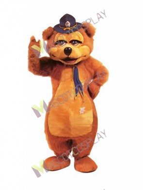 Safety Brown Bear Mascot Costume