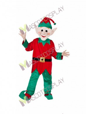 Santa's Helper Elf GENTS Mascot Costume Halloween Outfit