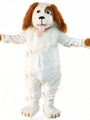 White Wizard Dog Mascot Costumes Cartoon