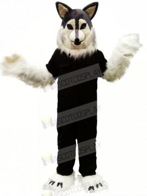 Grey Wolf Husky Mascot Costumes Cartoon