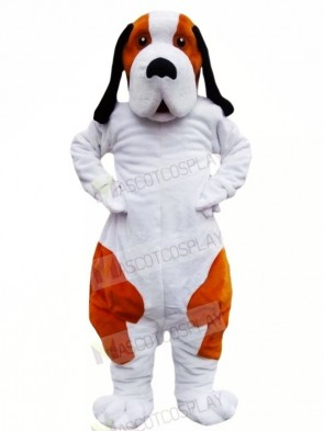 Brown and White Bernard Dog Mascot Costumes Animal