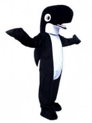 Black Whale Orca Mascot Costumes