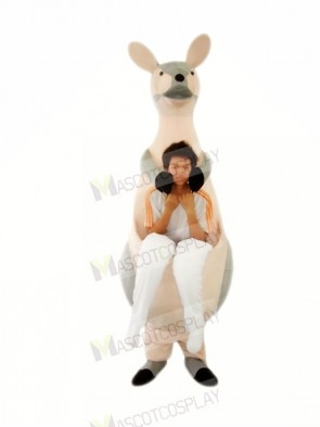 Grey Kangaroo Mother Mascot Costumes Adult