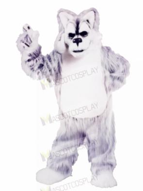 Grey and White Huskey Mascot Costumes Animal