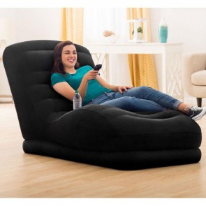 Single Back Inflatable Sofa with Electric Pump