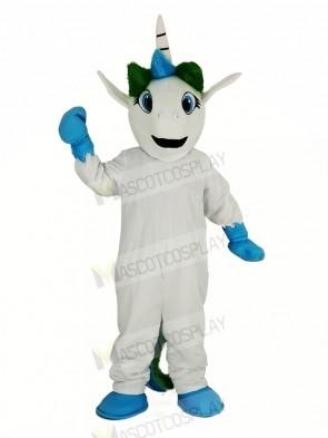 Blue Unicorn Mascot Costume Cartoon