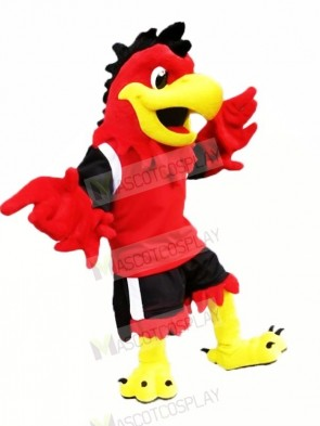 Red Cool Eagle Mascot Costumes Cartoon