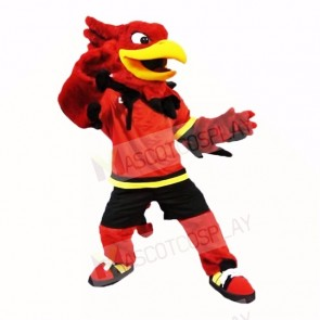 Sport Gryphon with Red Shirt Mascot Costumes Cartoon