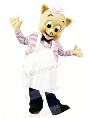 High Quality Chef Pig Mascot Costumes Cartoon