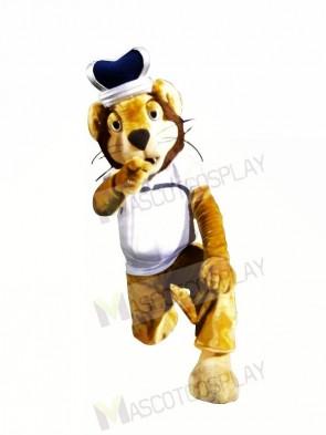 King Lion with Long Beard Mascot Costumes Animal