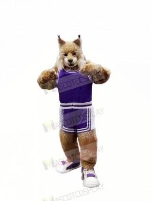 School Bobcat in Suit Mascot Costumes Cartoon