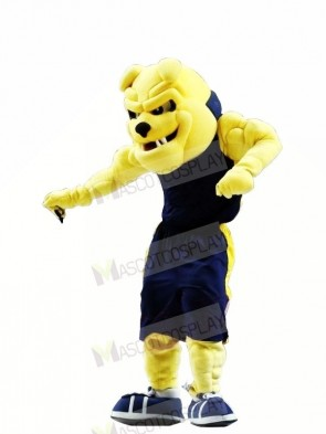 University Yellow Bulldog Mascot Costumes Adult