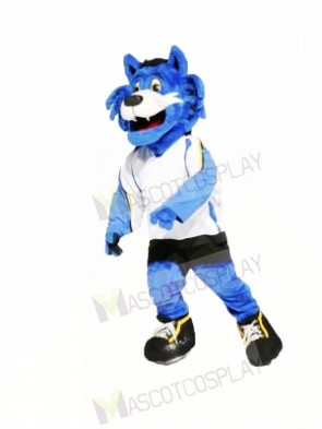 Blue Furry Tiger Mascot Costumes