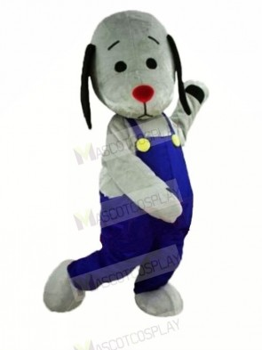 Grey Dog with Red Nose Mascot Costumes Animal