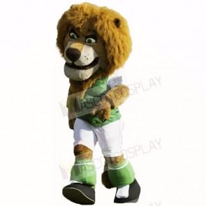 Green Football Lion Mascot Costumes Cartoon