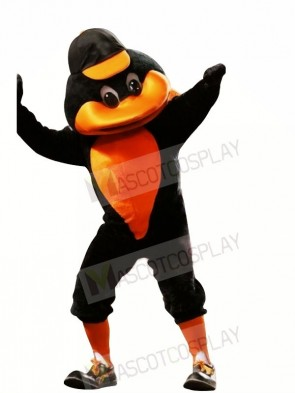 Sport Duck with Orange Hat Mascot Costumes Animal