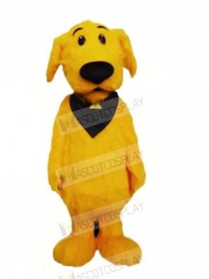 Furry Yellow Dog Mascot Costumes Cartoon