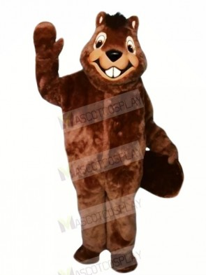 Smiling Furry Beaver Mascot Costumes Cartoon