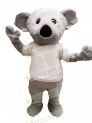 Furry Grey Koala Mascot Costumes Cartoon