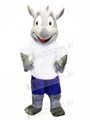 Sport Mascot Costume Robert Rhino Mascot Costume for Adult