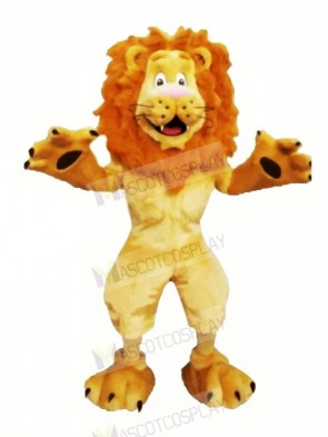 Happy Furry Lion Mascot Costumes Cartoon
