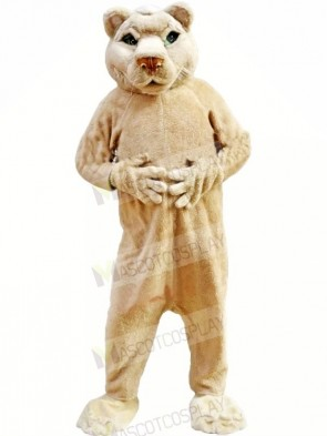 Tan-colored Lion Mascot Costumes Adult