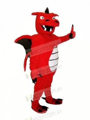 Red Strong Dragon Mascot Costumes Cartoon