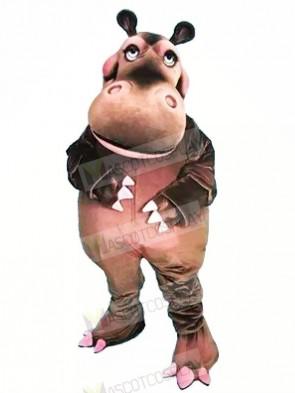 Happy Hippo Mascot Costumes Cartoon