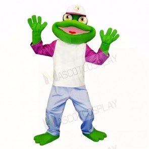 Sport Frog with Hat Mascot Costumes Cartoon