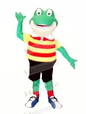 Smiling Frog Mascot Costumes Cartoon