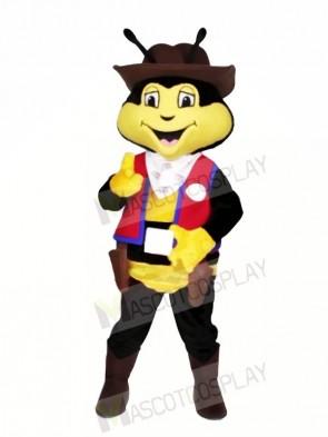 Cowboy Bee with Red Vest Mascot Costumes Animal