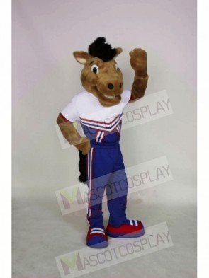 Smiling Mustang Mascot Costumes Animal