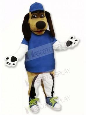 Beagle Dog with Blue Hat Mascot Costumes Animal