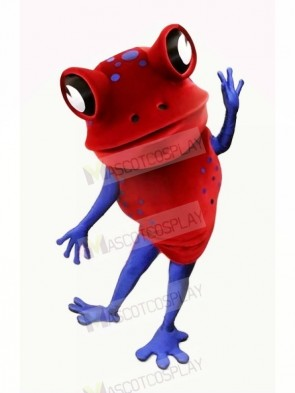 Red Funny Frog Mascot Costumes Cartoon
