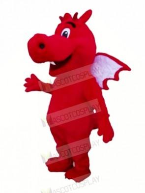 Red Lightweight Dragon Mascot Costumes Cartoon