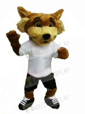 Fox with White T-shirt Mascot Costumes Animal