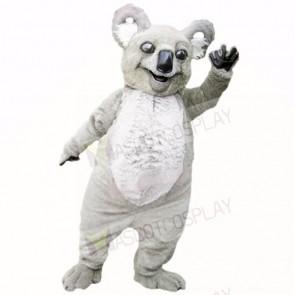 Smiling Grey Lightweight Koala Mascot Costumes Cartoon