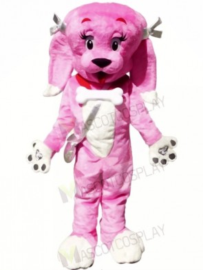Cute Pink Dog Mascot Costumes Animal