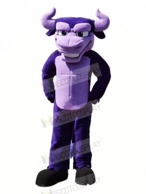 Power Purple Bull Mascot Costumes Cartoon