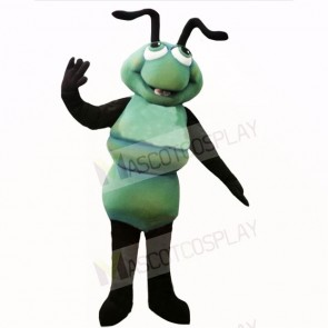 Smiling Green Ant Mascot Costumes Cartoon