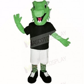 Green Lightweight Dragon with Black Shirt Mascot Costumes School