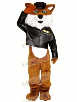 Pilot Fox in Jacket Mascot Costumes Cartoon