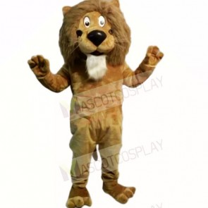 Brown Friendly Lightweight Lion Mascot Costumes Cartoon