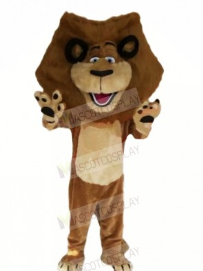 Happy Brown Lion Mascot Costumes Cheap