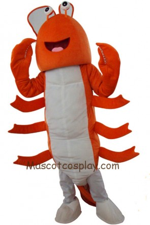 Orange Lobster Mascot Character Costume Fancy Dress Outfit