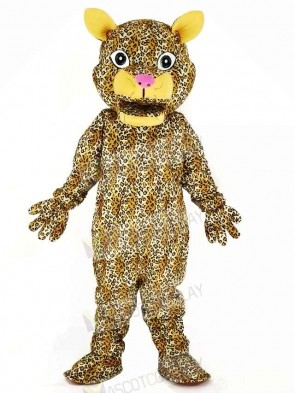 Leaping Leopard Mascot Costume Cartoon