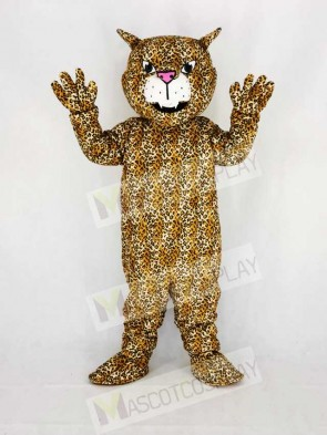 Cute Brown Big Cat Leopard Mascot Costume Cartoon